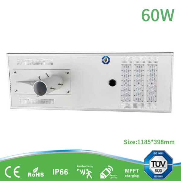 60W all-in-one solar street light with TUV for project