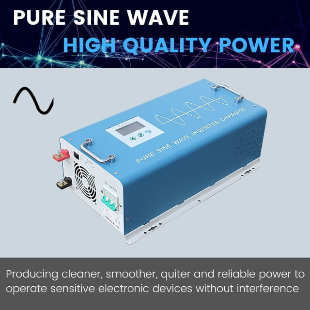 3KW pure sine wave power inverter charger 12V 24V 48V