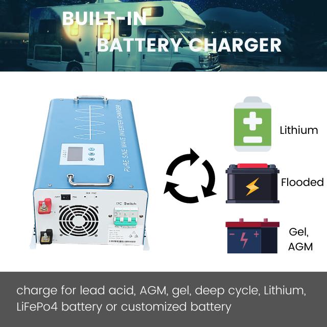 6000W 48V pure sine wave power inverter charger