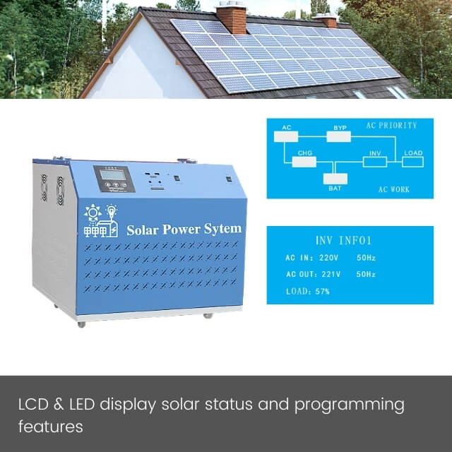 3KW portable solar generator with 60A MPPT controller and LiFePo4 battery