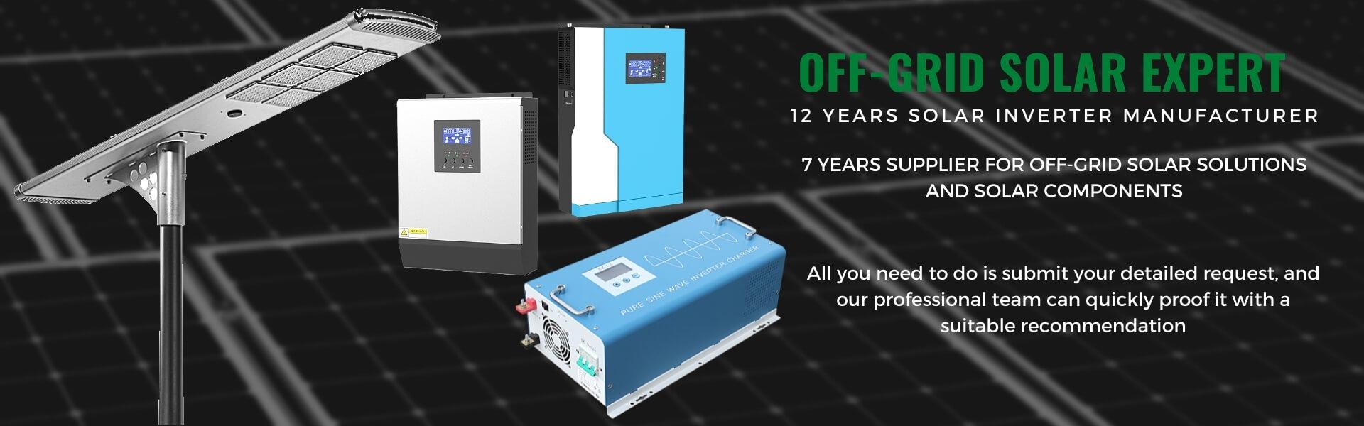 Power inverter, MPPT controller, off-grid solar system, MILESOLAR