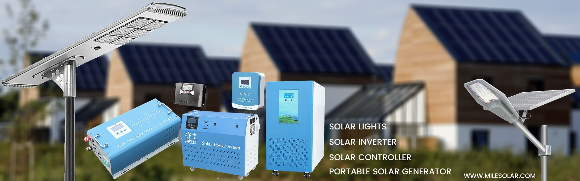 Power inverter, MPPT controller, off-grid solar system, MILESOLAR